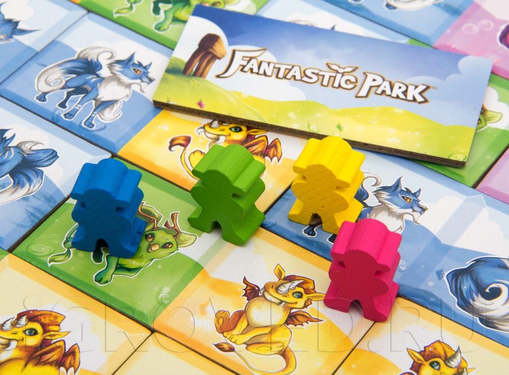Компоненты настольной игры Парк Фантастик (Fantastic Park)