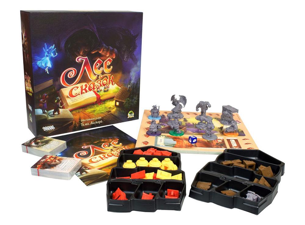 Коробка и компоненты настольной игры Лес сказок