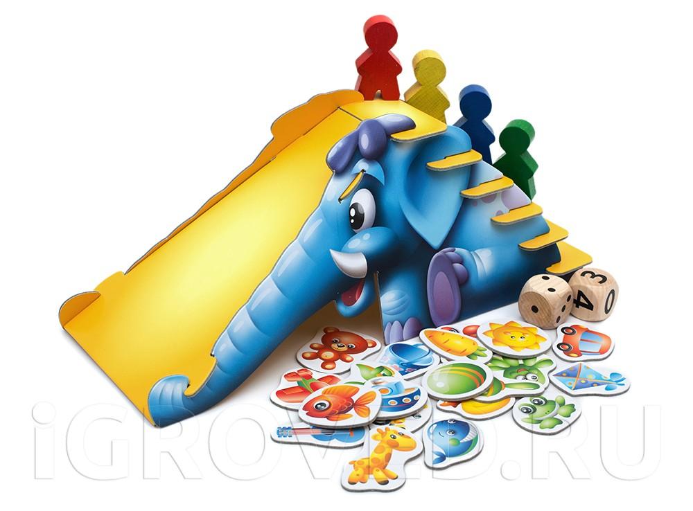 Компоненты настольной игры Синий слоник