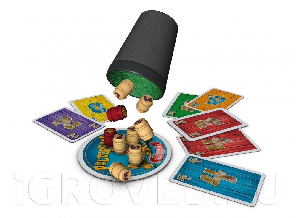 Компоненты настольной игры Хозяин таверны (Polterfass)