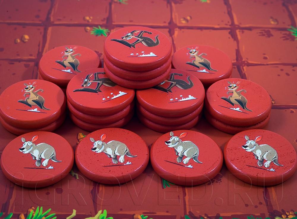Жетоны настольной игры Команда кенгуру (Kang)