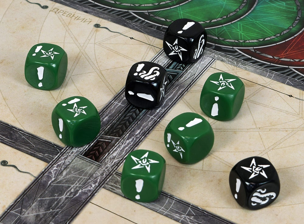Компоненты настольной игры Ктулху: Смерть может умереть
