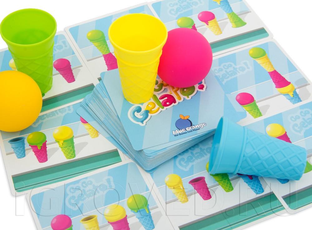 Компоненты настольной игры Экспресс-мороженое (Go Go Gelato)