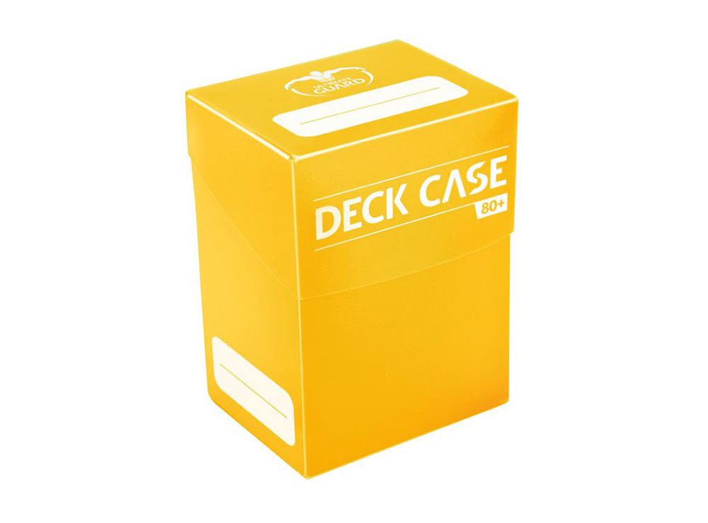 Коробочка Ultimate Guard жёлтая (80 карт)