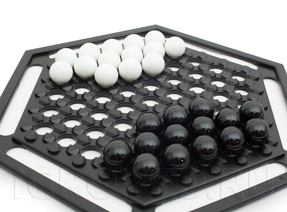 Компоненты настольной игры Абалон (Abalone)