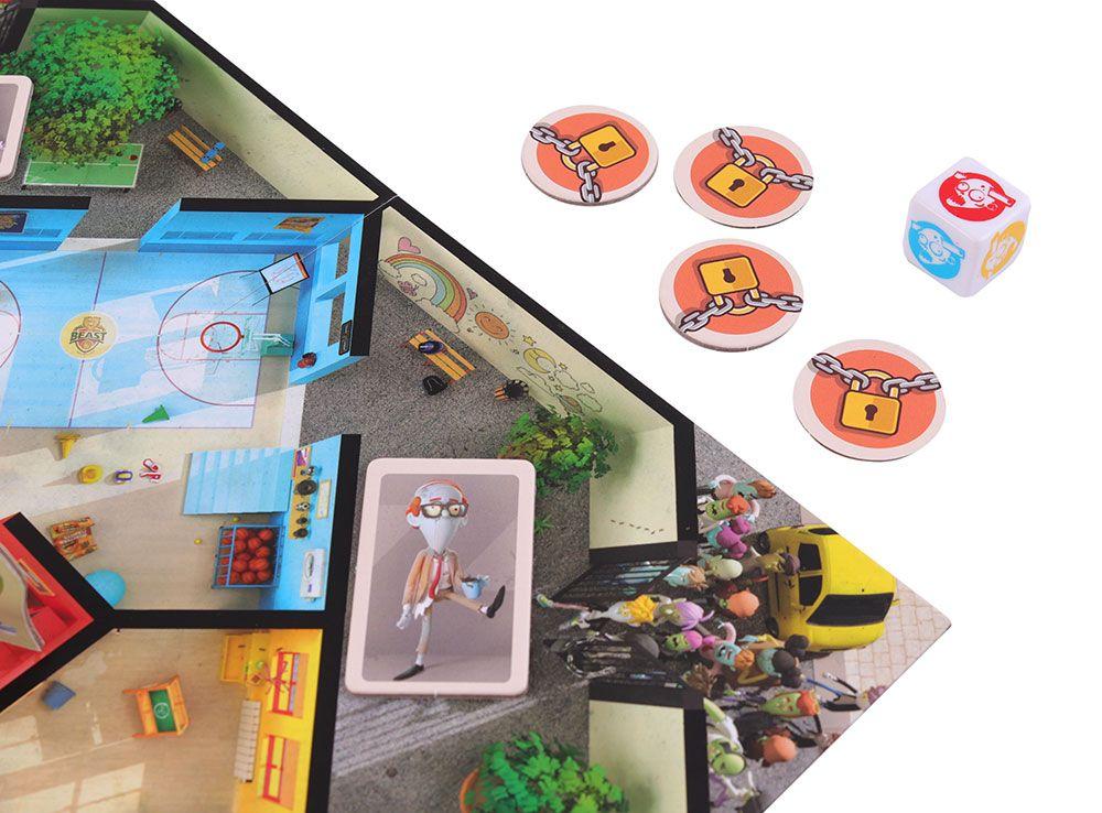 Компоненты настольной игры Зомби в школе