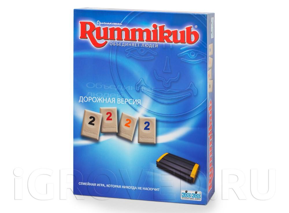 Коробка настольной игры Руммикуб (дорожная версия)