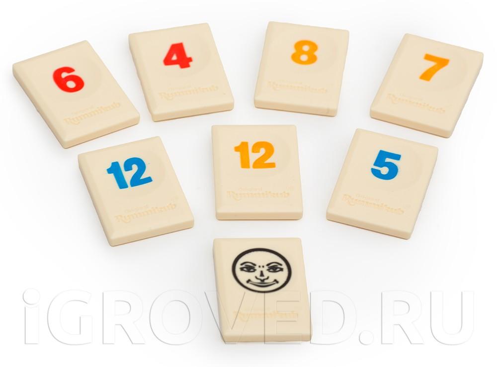 Фишки настольной игры Руммикуб (дорожная версия)