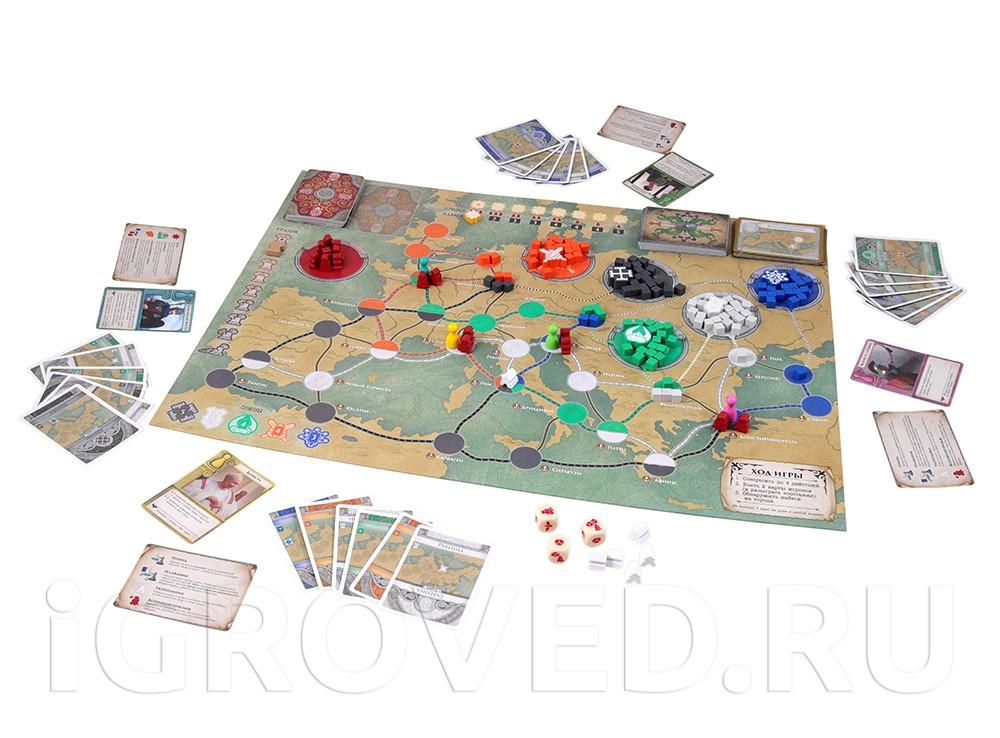 Игровой процесс настольной игры Пандемия: Падение Рима (Pandemic. Fall of Rome)