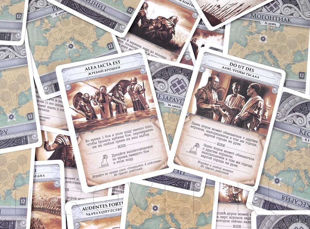 Компоненты настольной игры Пандемия: Падение Рима (Pandemic. Fall of Rome)