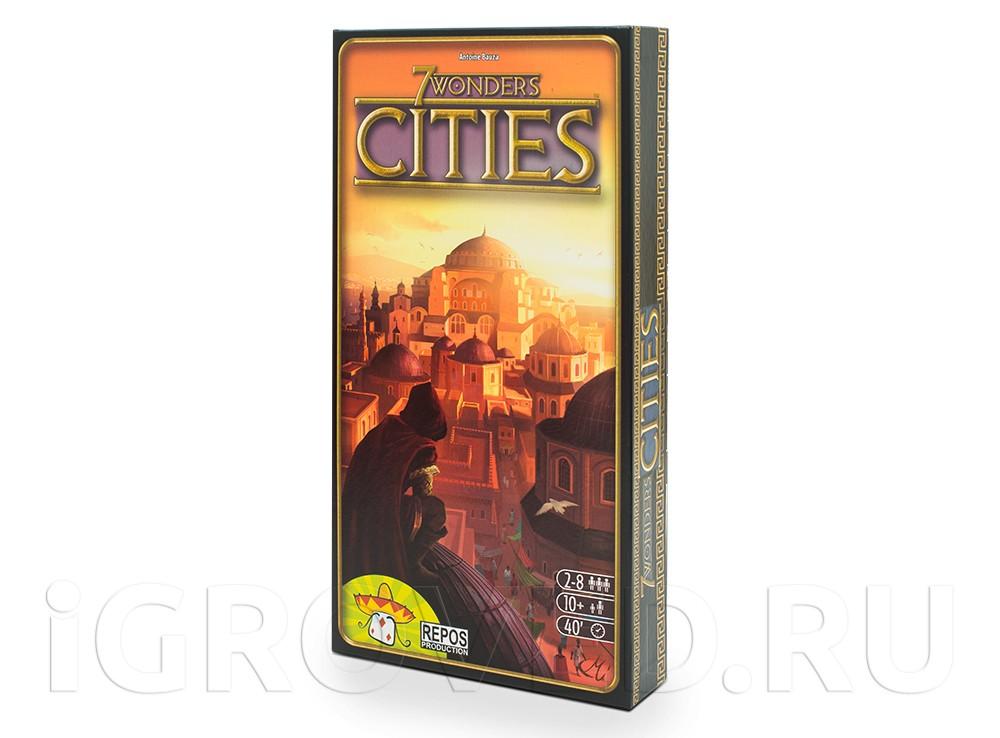 Коробка настольной игры 7 чудес: Города (7 Wonders: Cities, дополнение).