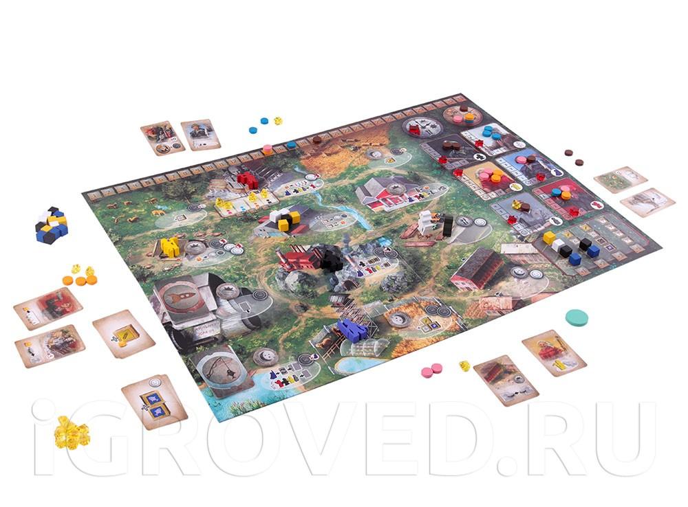 Игровой процесс настольной игры Дальние рубежи (Red Outpost)