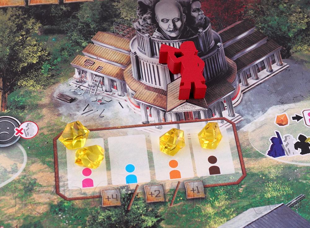 Компоненты настольной игры Дальние рубежи (Red Outpost)