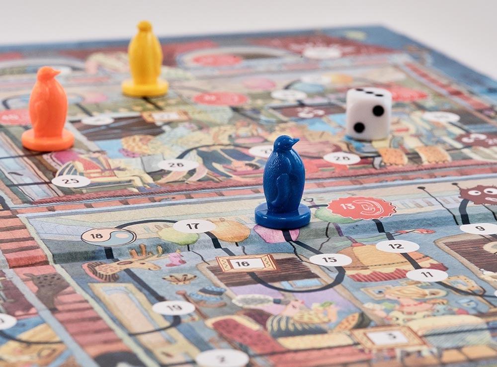 Игровое поле и компоненты настольной игры Экивоки