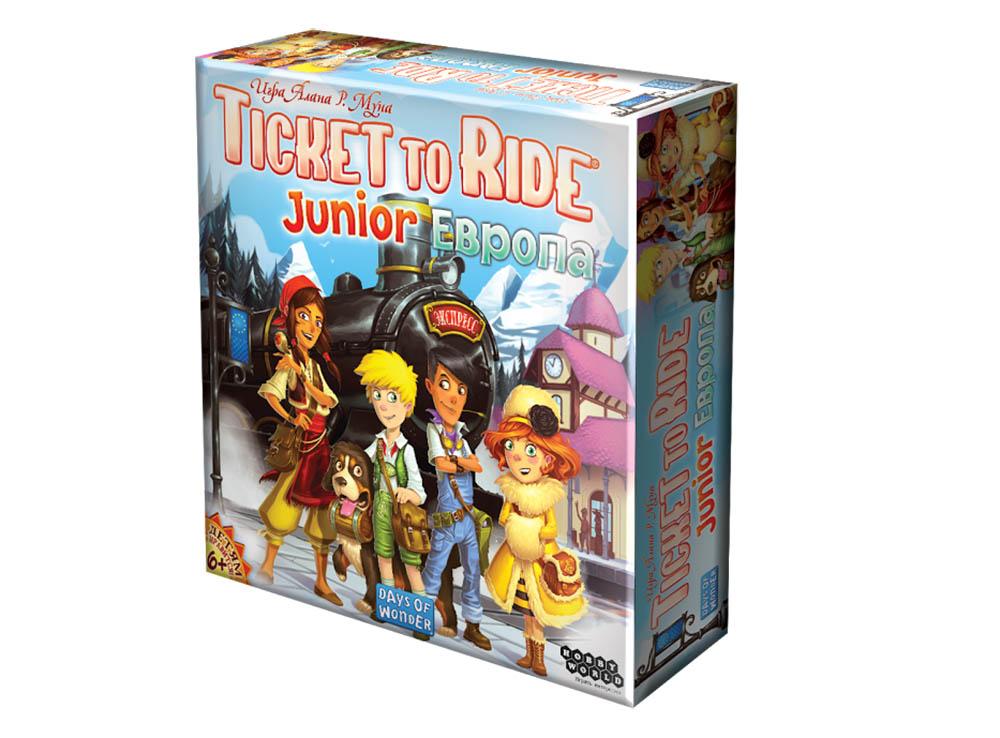 Настольная игра Билет на поезд Junior: Европа (Ticket to Ride Junior Europe)