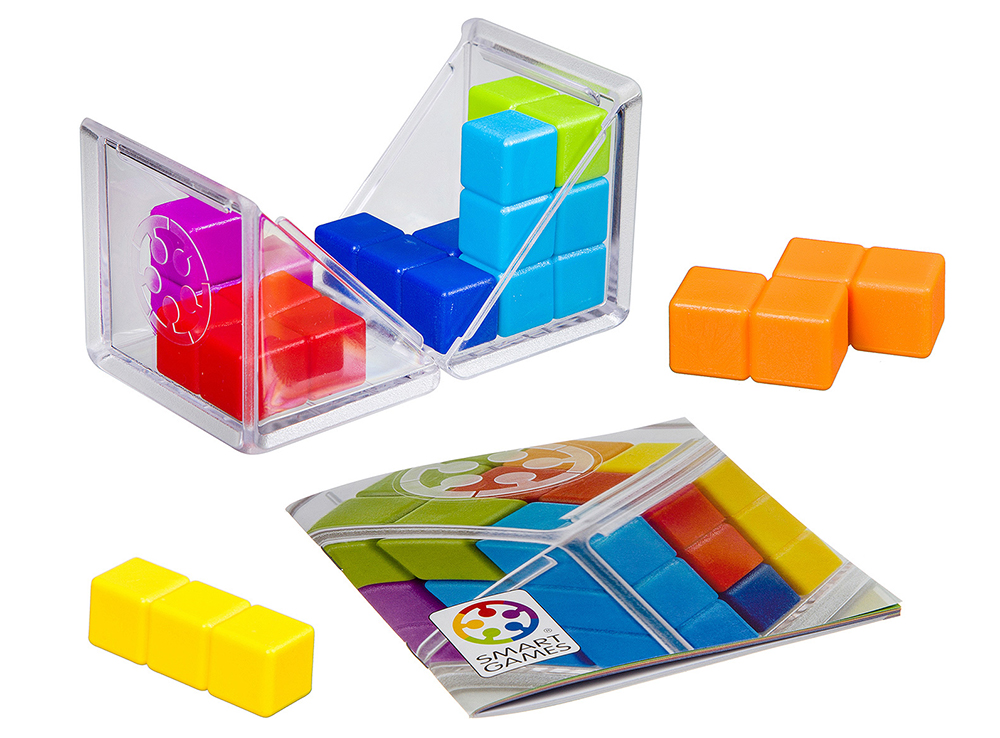 Компоненты настольной игры-головоломки IQ-Куб GO