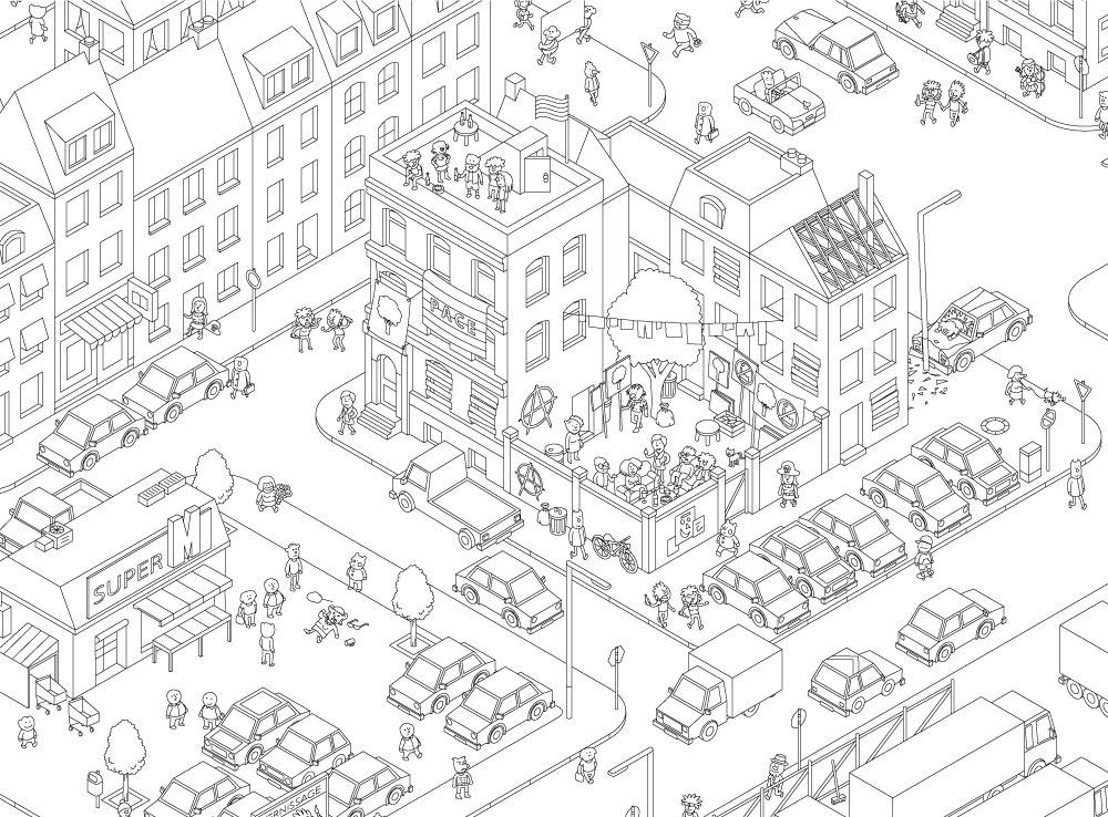 Карта настольной игры МикроМакро. Город Улик