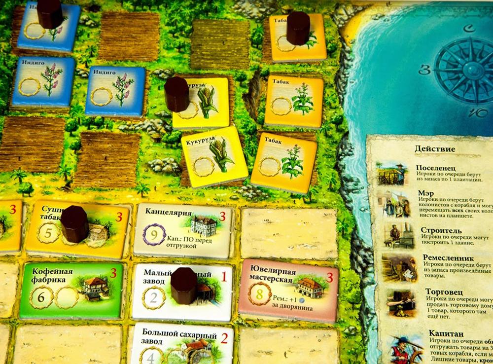 Компоненты настольной игры Пуэрто-Рико (Puerto Rico)