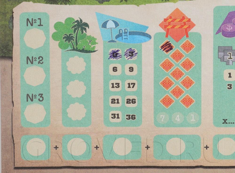 Игровое поле настольной игры Бумажные кварталы