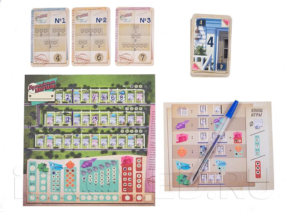 Игровой процесс настольной игры Бумажные кварталы