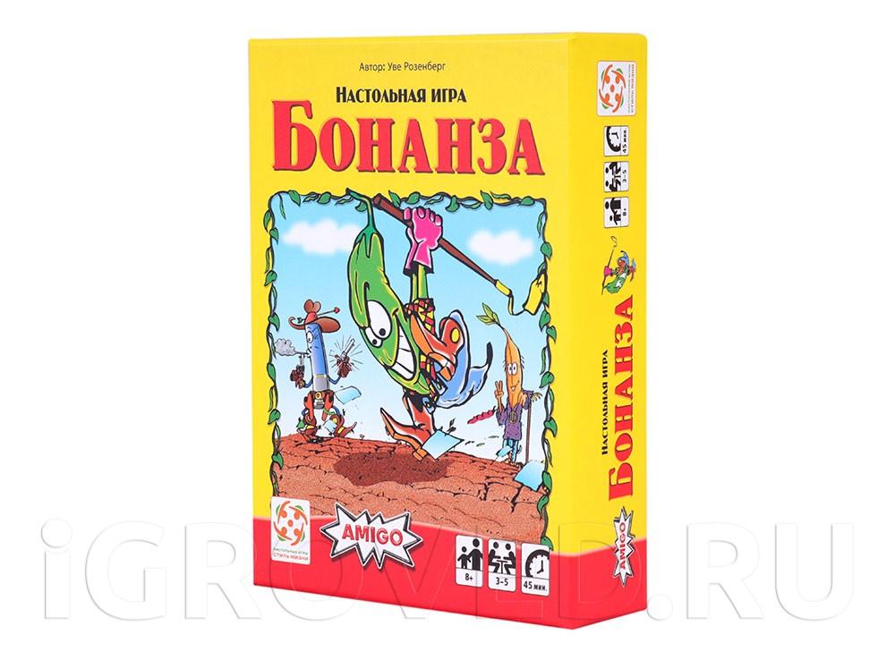 Коробка настольной игры Бонанза