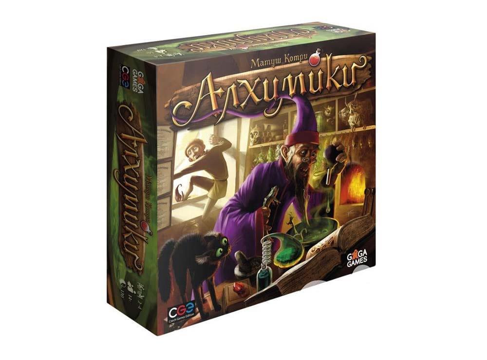 Коробка настольной игры Алхимики