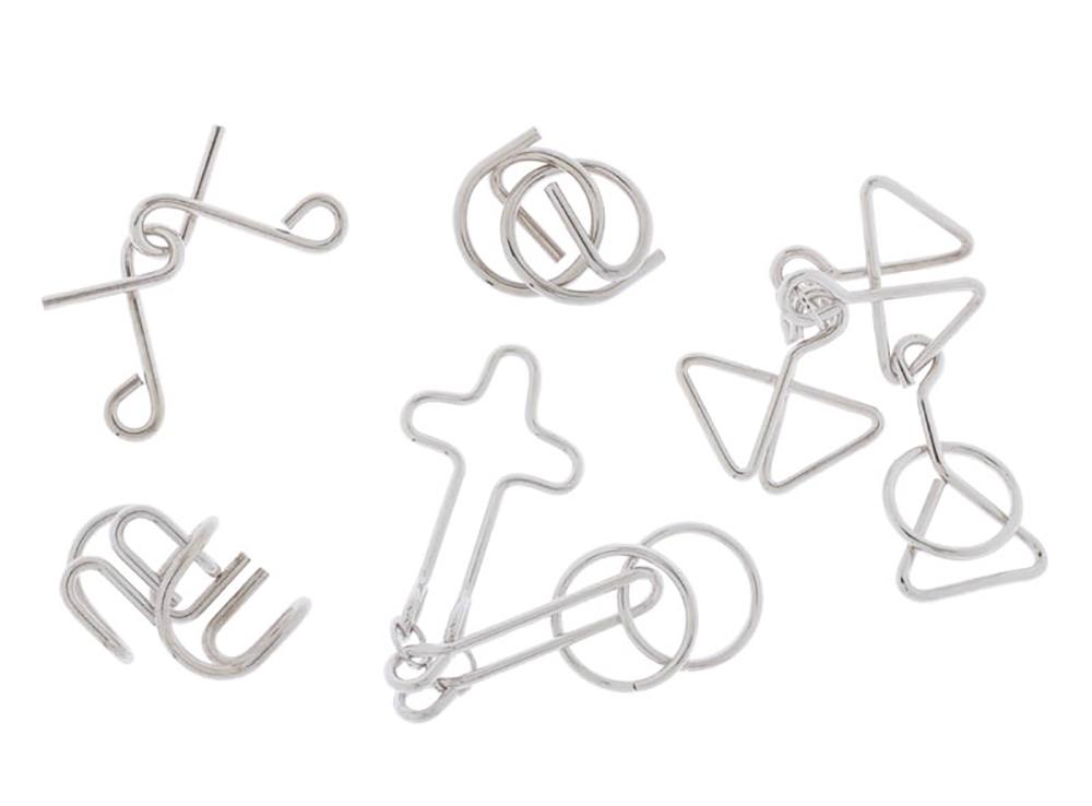 Набор из 5 классических головоломок из металла