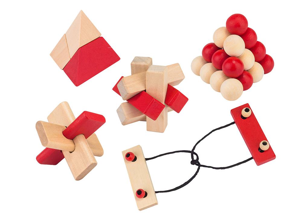 Набор из 5 головоломок Puzzling Professors (1426, 5 Wooden Puzzle Set)