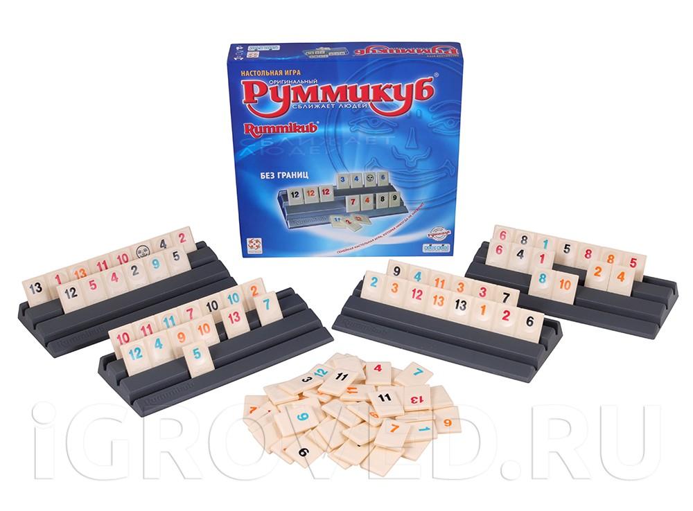 Компоненты настольной игры Руммикуб. Без границ