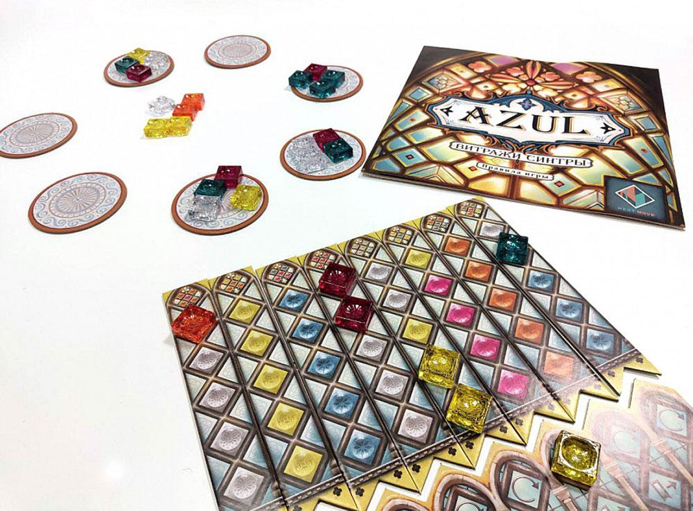 Компоненты настольной игры AZUL. Витражи Синтры