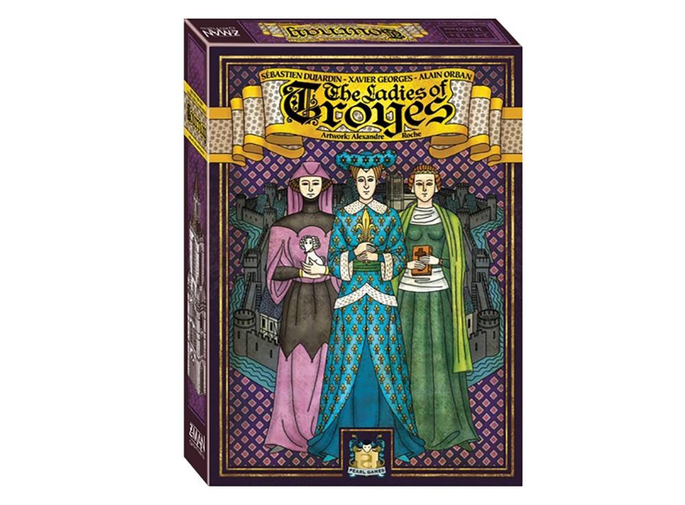 Коробка настольной игры Труа: Леди (Les Dames de Troyes, дополнение)