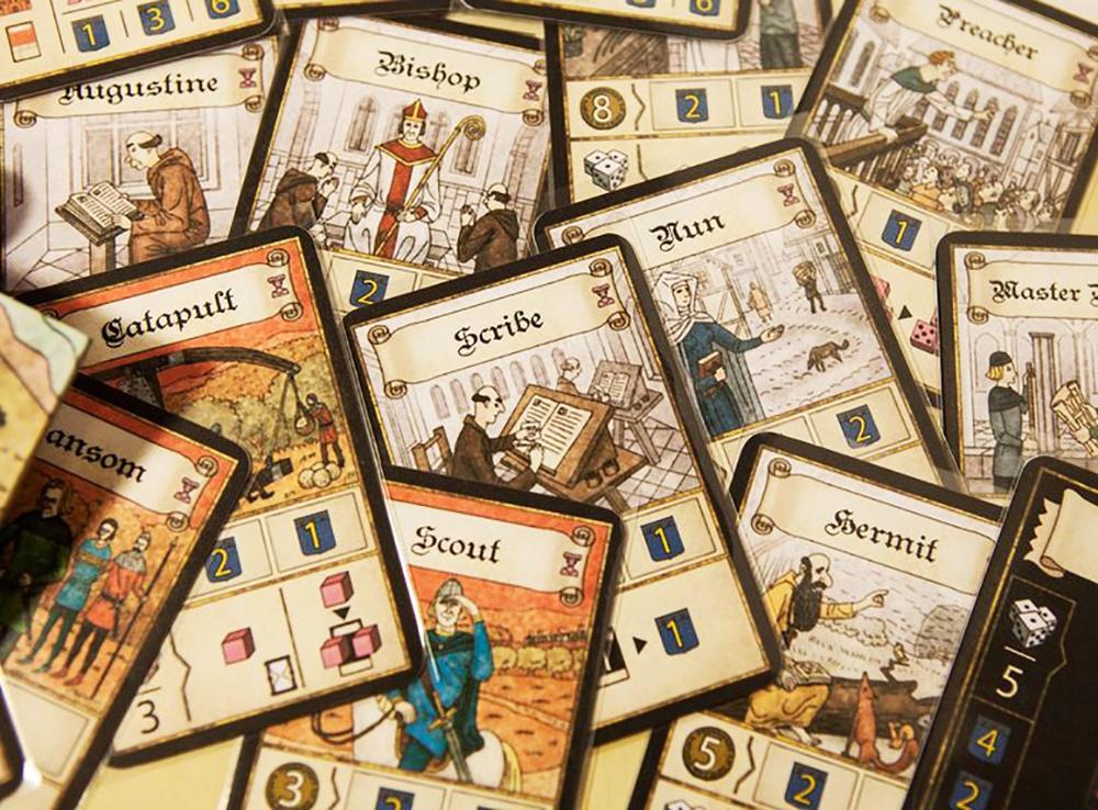 Карты персонажей настольной игры Труа: Леди (Les Dames de Troyes, дополнение)