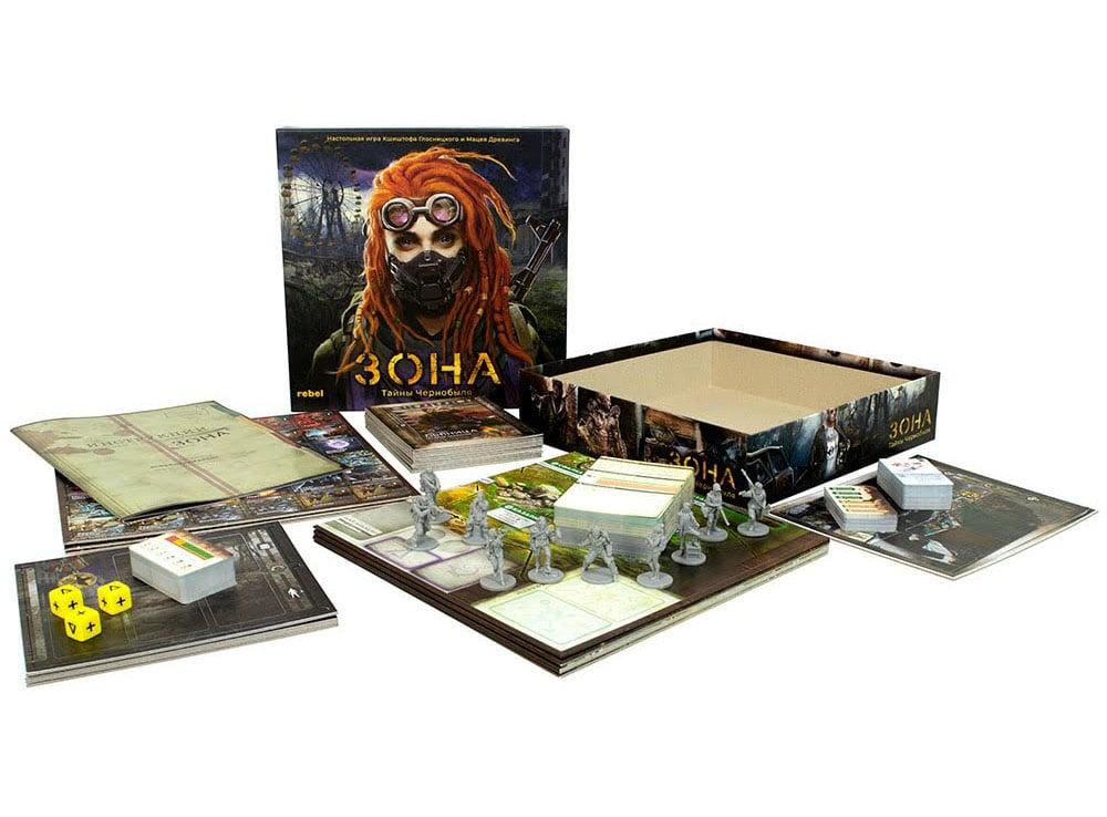 Коробка настольной игры Зона: Тайны Чернобыля