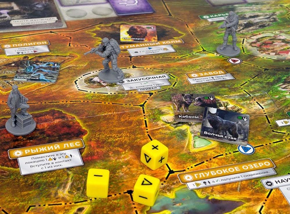 Игровое поле игры Зона: Тайны Чернобыля
