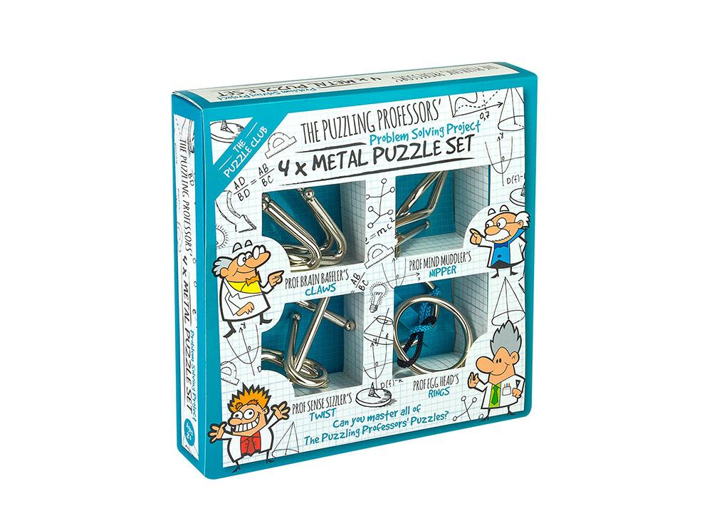 Коробка с головоломками Набора из 4 головоломок Puzzling Professors