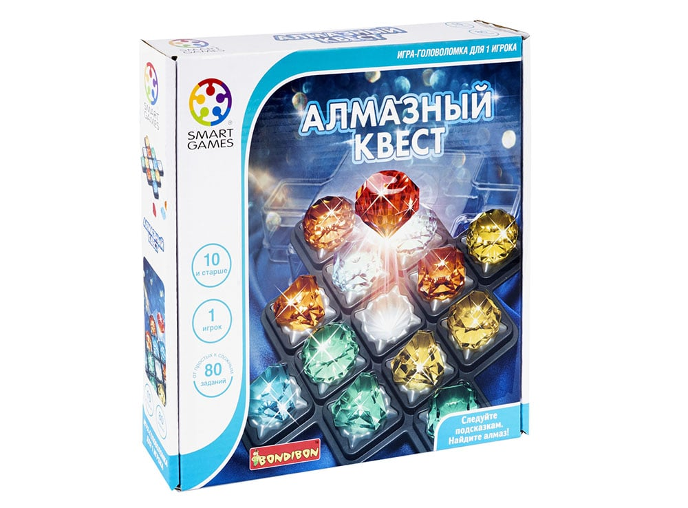 Коробка настольной игры Алмазный квест