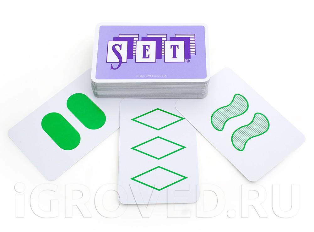 Карточки настольной игры Сет (Set)