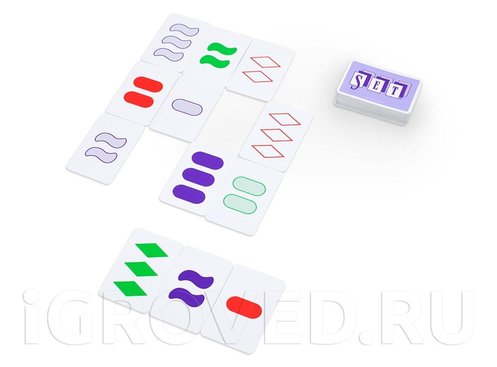 Игровой процесс настольной игры Сет (Set)