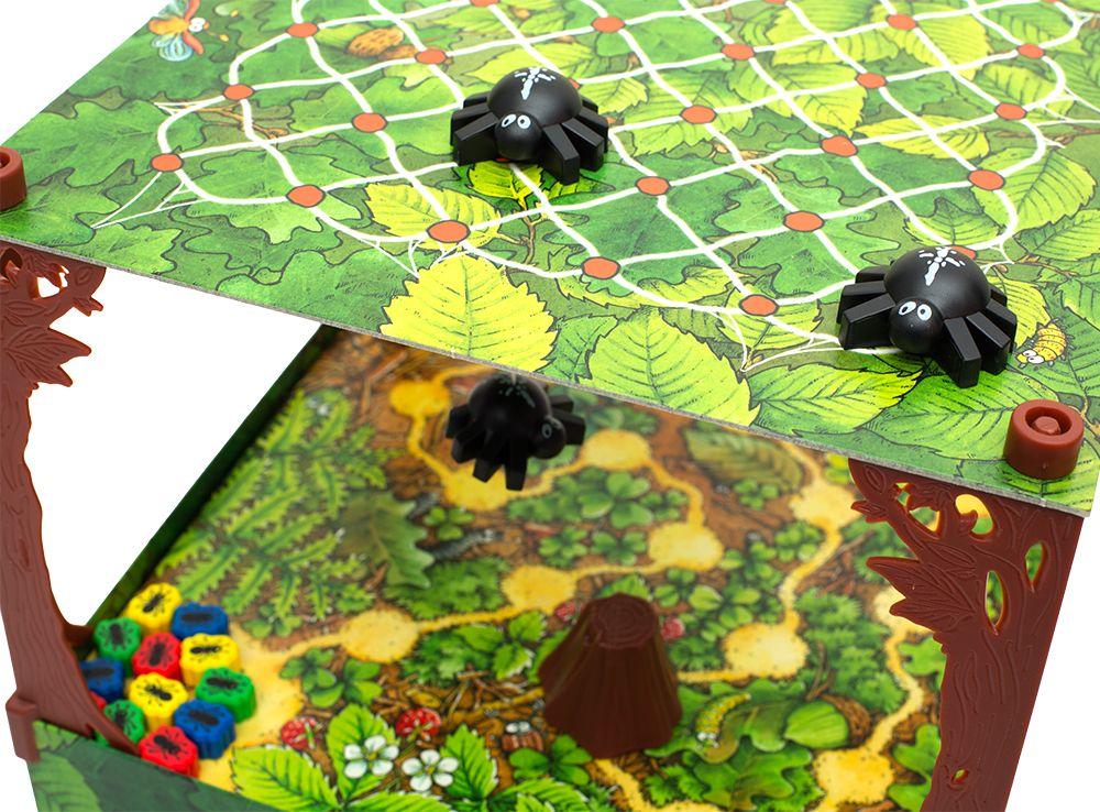 Игровой процесс настольной игры Спиндерелла (Spinderella)