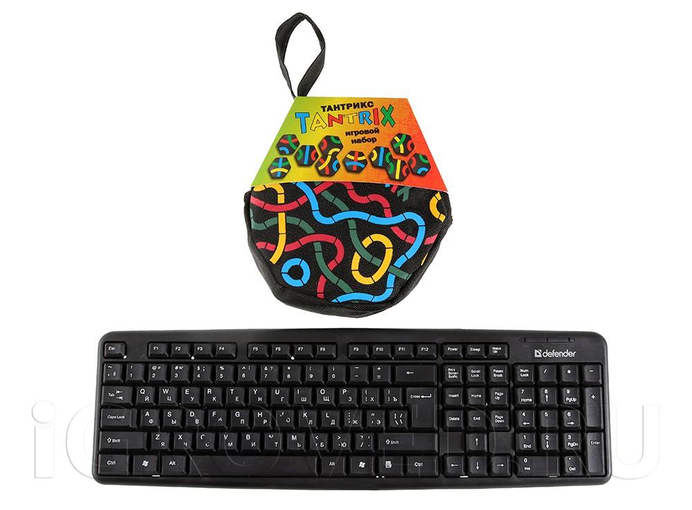 Упаковка настольной игры Тантрикс в сравнении с клавиатурой