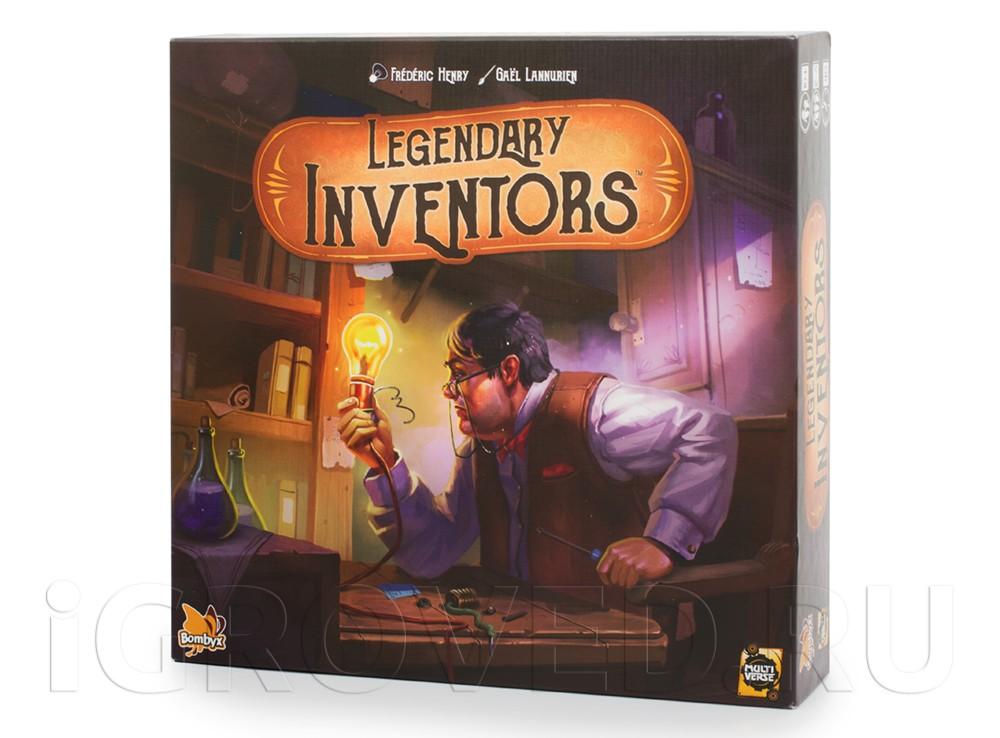Коробка настольной игры Легендарные изобретатели (Legendary Inventors)