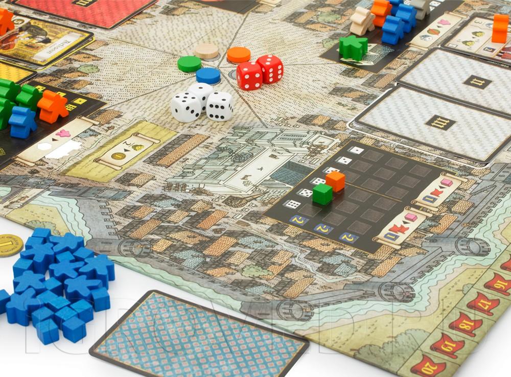 Игровой процесс настольной игры Труа (Troyes)