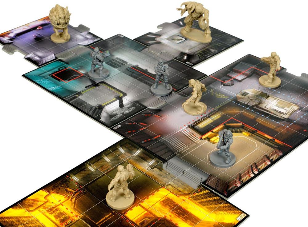 Компоненты настольной игры Doom