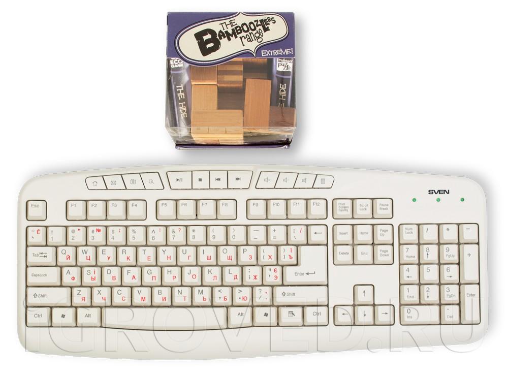 Коробка Головоломки Засада в сравнении с клавиатурой