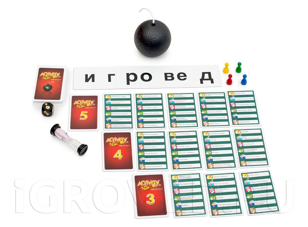 Бомбочка таймер Тик Так Бумм, игровой кубик Тик Так Бумм, четыре фишки, песочные часы, карты