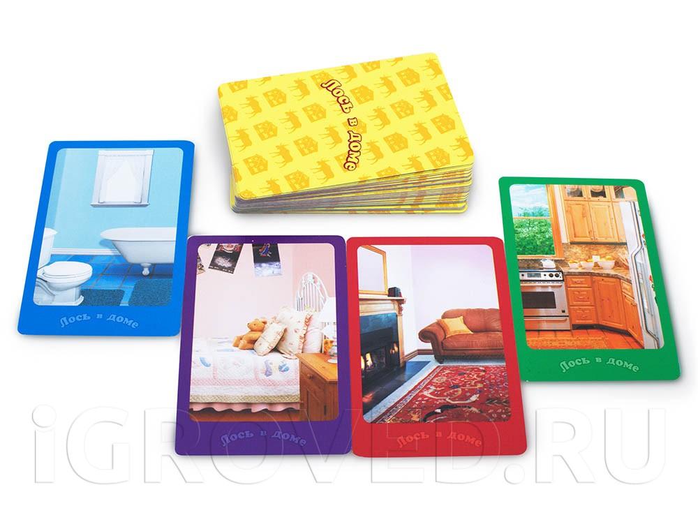 Карточки настольной игры Лось в доме Делюкс
