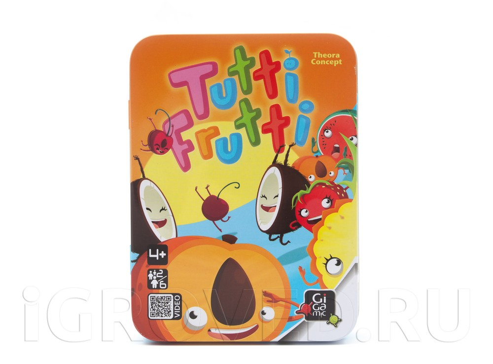 Коробка настольной игры Тутти Фрутти (Tutti Frutti)