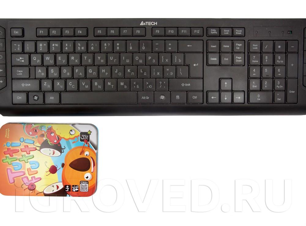 Коробка настольной игры Тутти Фрутти (Tutti Frutti) в сравнении с клавиатурой