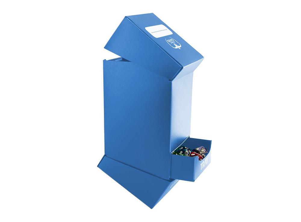 Коробочка Ultimate Guard с 2 отделениями синяя (100 карт)