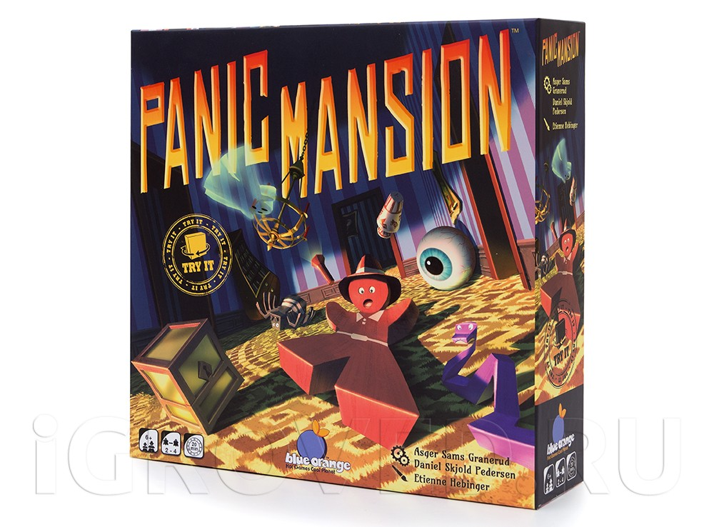 Коробка настольной игры Паника в поместье (Panic Mansion)